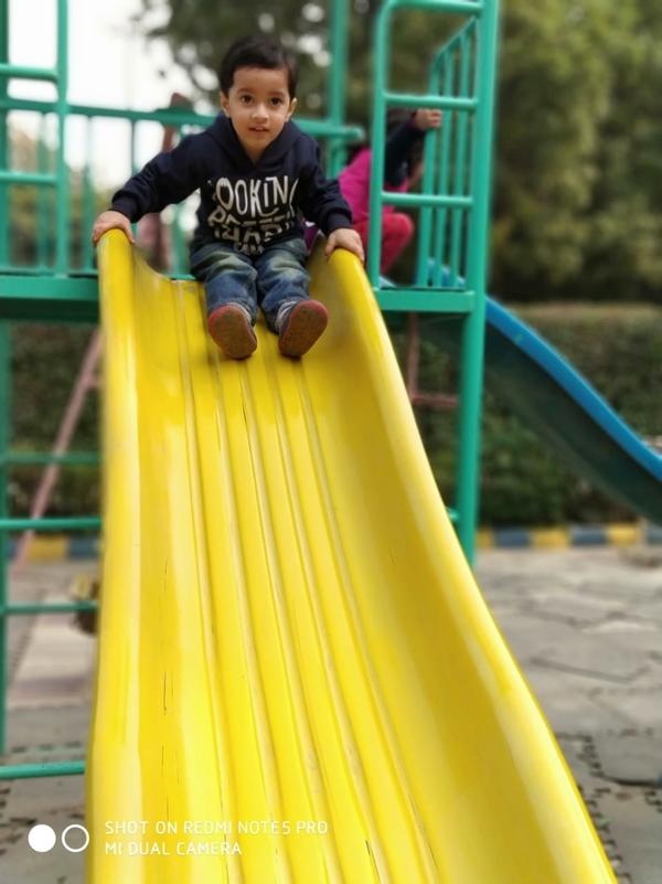 Kid playing on park at Anubhav